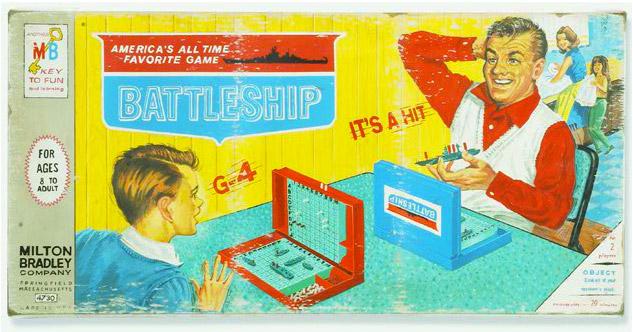 Que tu mamá y tu hermana laven los platos, nosotros los chicos nos involucramos en batallas navales emocionantes. MB en los 1960s. vía thevintagebazaar.com
