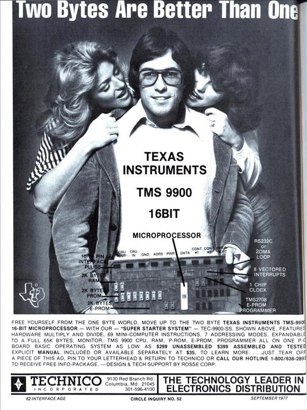 Este anuncio de 1977 muestra cuán inclusiva era la tecnología computarizada en sus años tempranos. ¿Cómo podemos pretender, que esto invita por igual a mujeres como a hombres? ¿Cómo podemos pretender, que pasa algo malo con las mujeres y no con la cultura? fuente